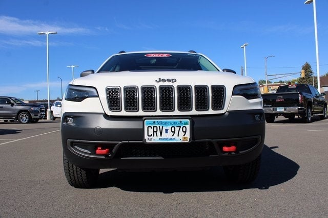 Used 2019 Jeep Cherokee Trailhawk with VIN 1C4PJMBX4KD398368 for sale in Virginia, Minnesota